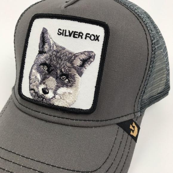 89bdeb2c goorin bros Accessories | Silver Fox Mesh Trucker Hat Cap | Poshmark